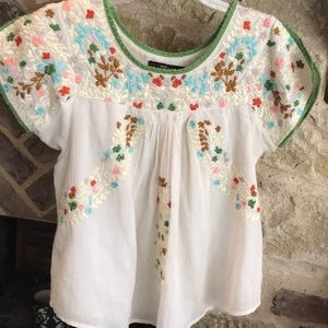 Anthropologie embroidered top GUC small